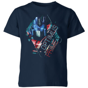 T-shirt Transformers Optimus Prime Glitch - Bleu Marine - Enfants