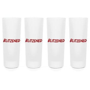 Blitzened Shot Glasses - Set of 4