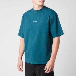 Acne Studios Men's Reverse Logo T-Shirt - Deep Petrol