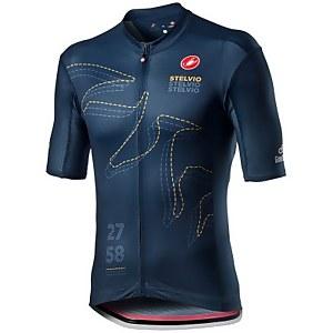 Castelli Giro D'Italia Stelvio Jersey - Savile Blue
