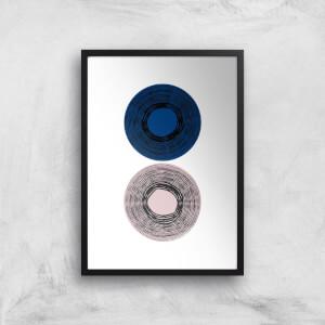 Touching Circles Giclee Art Print