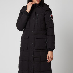 Superdry Women's Longline Everest Coat - Black