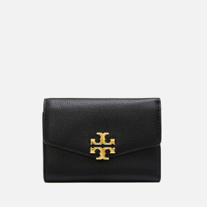Tory Burch Women's Kira Mixed-Materials Medium Flap Wallet - Black