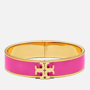 Tory Burch Women's Kira Enamel 14mm Bracelet - Tory Gold/Crazy Pink
