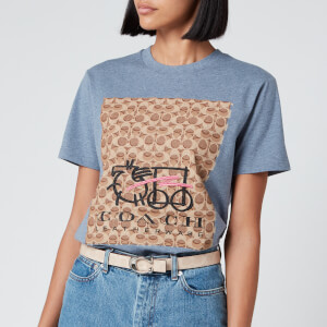 Coach 1941 Women's Chinese Collective Logo T-Shirt - Chambray