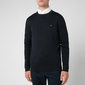 Tommy Hilfiger Men's Classic Crew Neck Knitted Jumper - Sky Captain