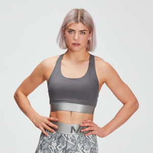 MP Women's Adapt Textured Sports Bra- Carbon