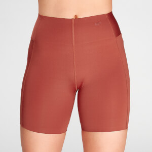 MP Women's Composure Cycling Shorts- Burnt Red