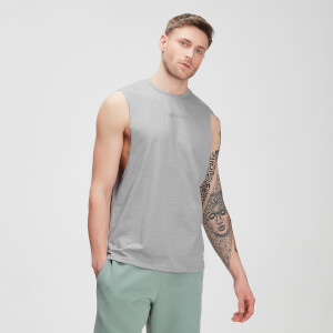 MP Men's Tonal Graphic Tank – Storm Grey Marl