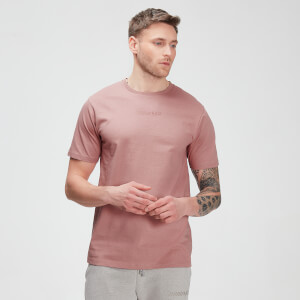 T-shirt de Manga Curta Tonal Graphic da MP para Homem – Washed Pink