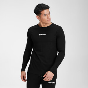MP Men's Contrast Graphic Long Sleeve Top - Black