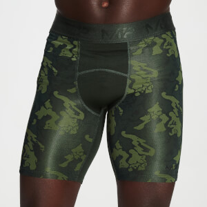 MP Herren Adapt Camo Base Layer Shorts – Green Camo
