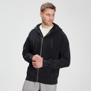 MP Men's Raw Training Zip Through Hoodie - Black