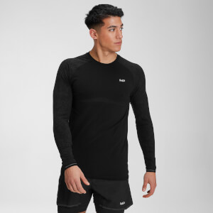 Velocity Long Sleeve Top til mænd – Sort
