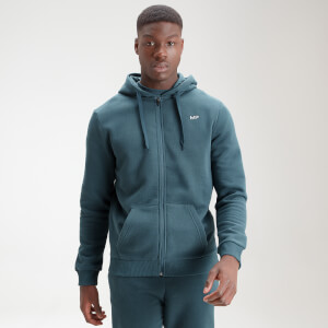MP Men's Essential Zip Through Hoodie - Deep Sea Blue
