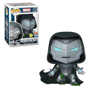 Figura Funko Pop! Exclusivo PX - Infamous Iron Man (GITD) - Marvel