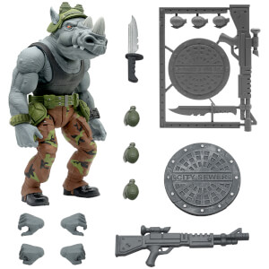 "Super7 Teenage Mutant Ninja Turtles Ultimates! Rocksteady 7"" Action Figure"