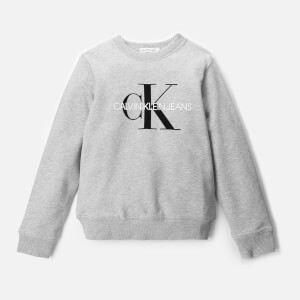 Calvin Klein Monogram Logo Sweatshirt - Light Grey