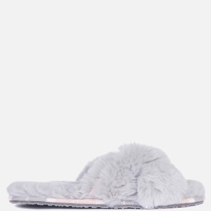 Barbour Women's Lottie Slippers - Grey/Pink Tartan
