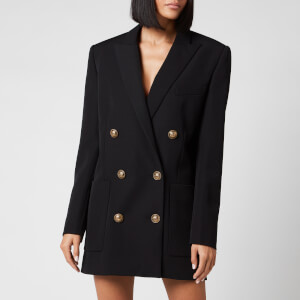Balmain Women's 6 Button Boyfriend Jacket Dress - Black