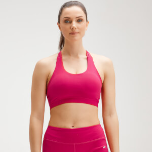 MP Women's Power Cross Back Sports Bra - Virtual Pink
