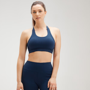 MP Women's Power Cross Back Sports Bra - Dark Blue
