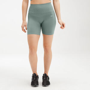 MP Women's Shape Seamless Ultra Cycling Shorts - Washed Green