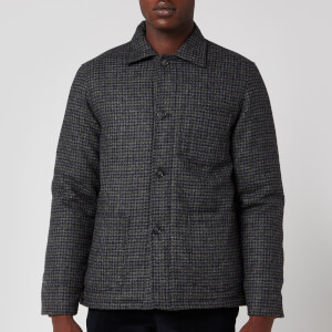Officine Generale Men's Chore Houndstooth Padded Jacket - Grey