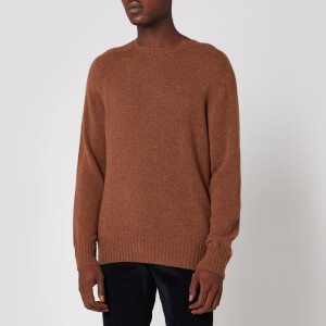 Officine Generale Men's Wool Crewneck Jumper - Caramel