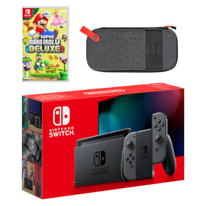 Nintendo Switch (Grey) New Super Mario Bros. U Deluxe Pack