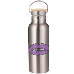Purple Lipstick Portable Insulated Water Bottle - Steel