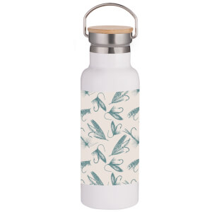 Fishing Hooks Portable Insulated Water Bottle - White