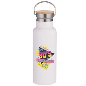 90's Forever Portable Insulated Water Bottle - White