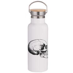 Skull Portable Insulated Water Bottle - White