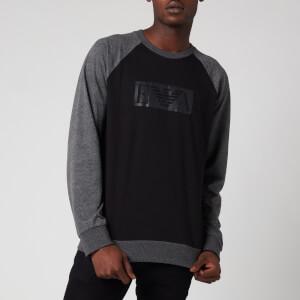 Emporio Armani Men's Raglan Terry Sweatshirt - Black