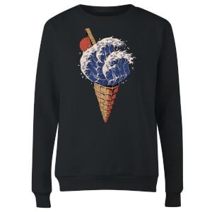 Ilustrata Kanagawa Flavour Women's Sweatshirt - Black