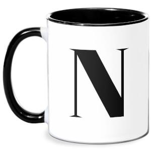 N Mug - White/Black