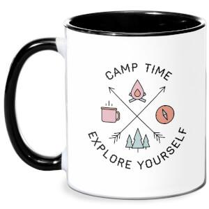 Camp Time Explore Yourself Mug - White/Black