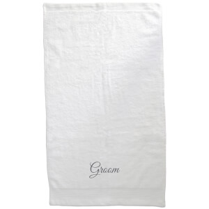 Groom Embroidered Towel