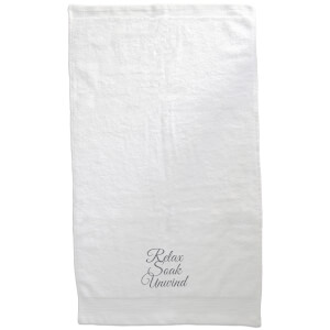 Relax Soak Unwind Embroidered Towel