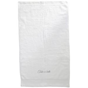 Take A Bath Embroidered Towel