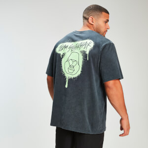 MP x Zack George Acid Wash Oversized Tee - Neon Green