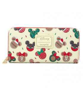 Loungefly Disney Mickey & Minnie Christmas Cookies Zip Around Wallet