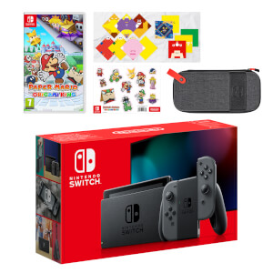 Nintendo Switch (Grey) Paper Mario: The Origami King Pack