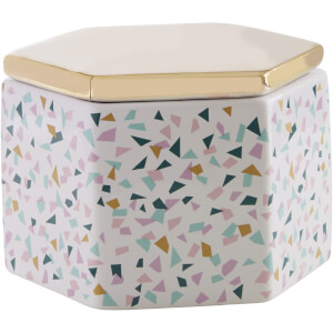 Gozo Ceramic Jar - Gold Finish Lid
