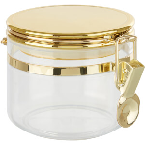 Gozo Transparent Canister - Gold Finish Lid - Small