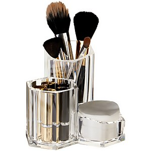 Clear Cosmetics Organiser - 3 Compartment