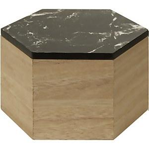 Mimo Hexagon Trinket Box - Black Faux Marble