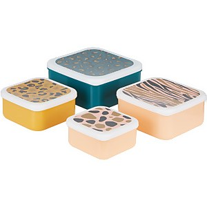 Mimo Animal Print Lunch Box Set - Stackable