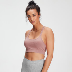 MP Women's Tonal Graphic Bra - Washed Pink